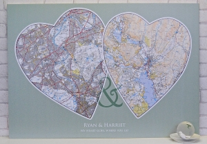 Photo of Personalised Couples Map Review