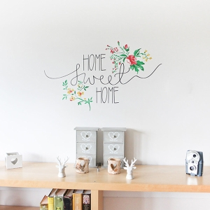 Photo of Vinyl Impression Wall Sticker Floral Home Sweet Home Review