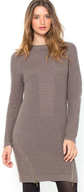 Photo of La Redoute Long-Sleeved Biker-Style Knitted Dress Review