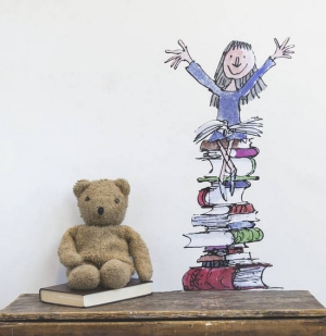 Photo of Roald Dahl Wall Sticker: Matilda On Her Books Review