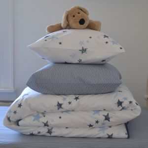 Photo of Potato Stamp Stars Cot Bed Duvet Cover & Pillowcase Review