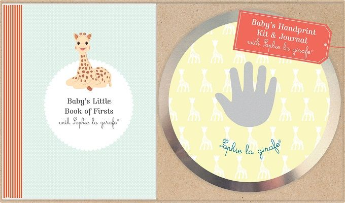 Photo of Sophie La Girafe Handprint Kit and Journal Review