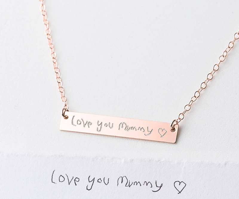 Photo of Personalised Your Child's Handwriting Necklace Review