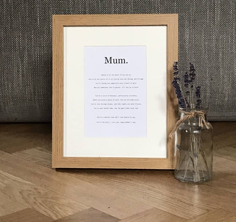 Photo of More Than Words Personalised Poem Review
