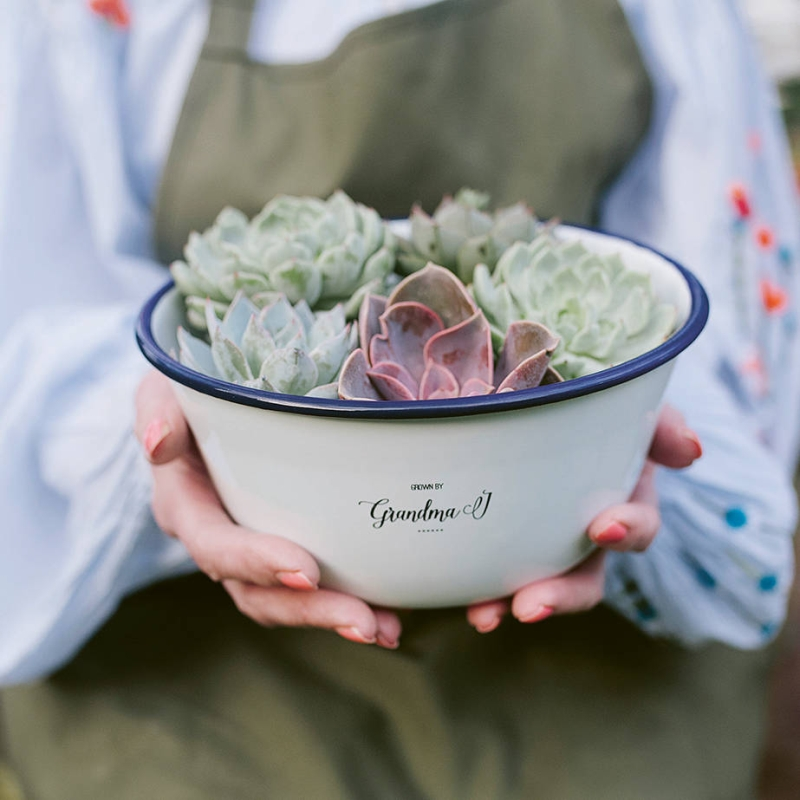 Photo of Personalised Enamel Planter Review