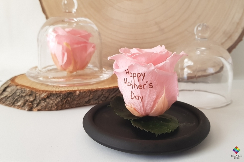Photo of Black QUBD MBOS Happy Mother's Day Preserved Rose Review