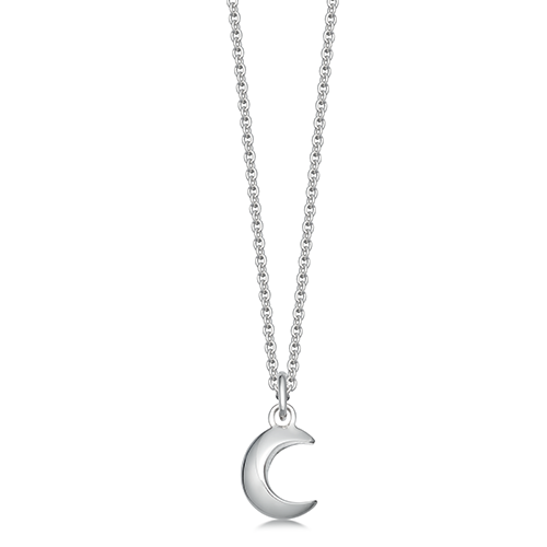 Photo of Hersey & Son Silver Moon Pendant Necklace Review