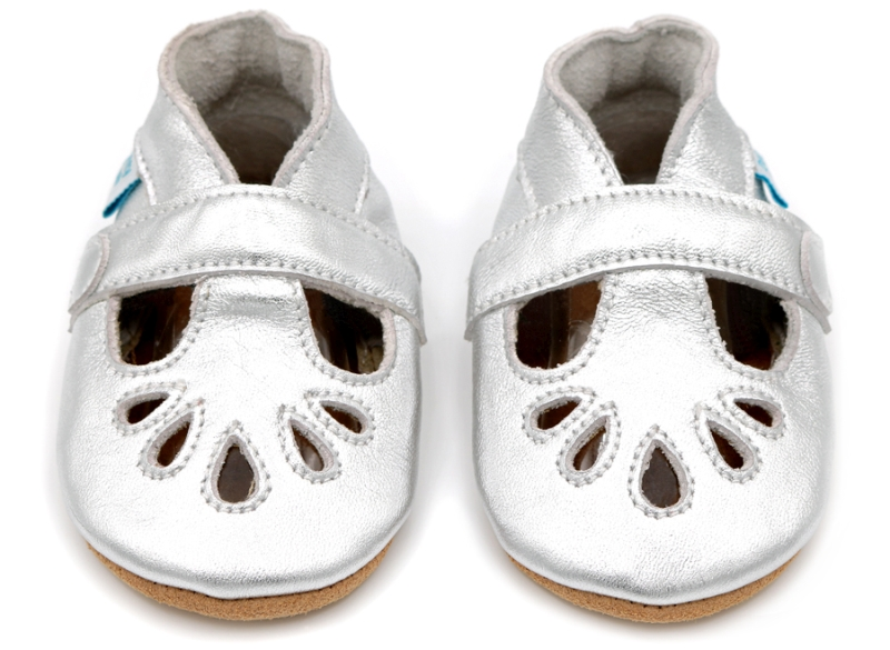Photo of Dotty Fish Silver Girls T-Bar Shoes Review