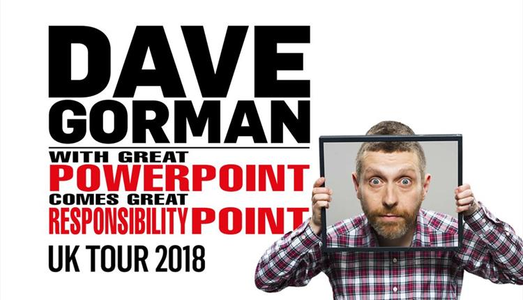Photo of Dave Gorman With Great PowerPoint Comes Great ResponsibilityPoint at The Lowry Review
