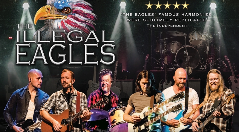 Photo of The Illegal Eagles 2018 at the Preston Guild Hall Review