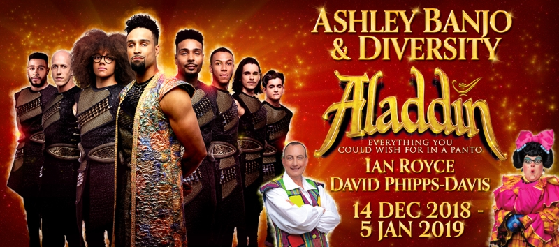Photo of Aladdin at the Cliffs Pavilion Southend Review
