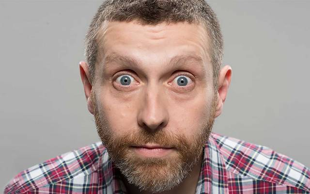 Photo of Dave Gorman With Great PowerPoint comes Great ResponsibiltyPoint at The Lowry Review