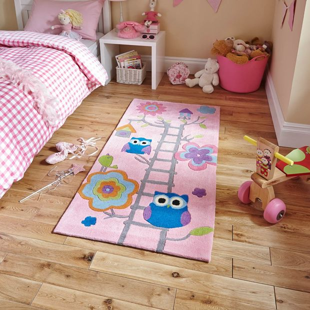 Photo of Rugs Direct Think Rugs Pink Owl Rug Review