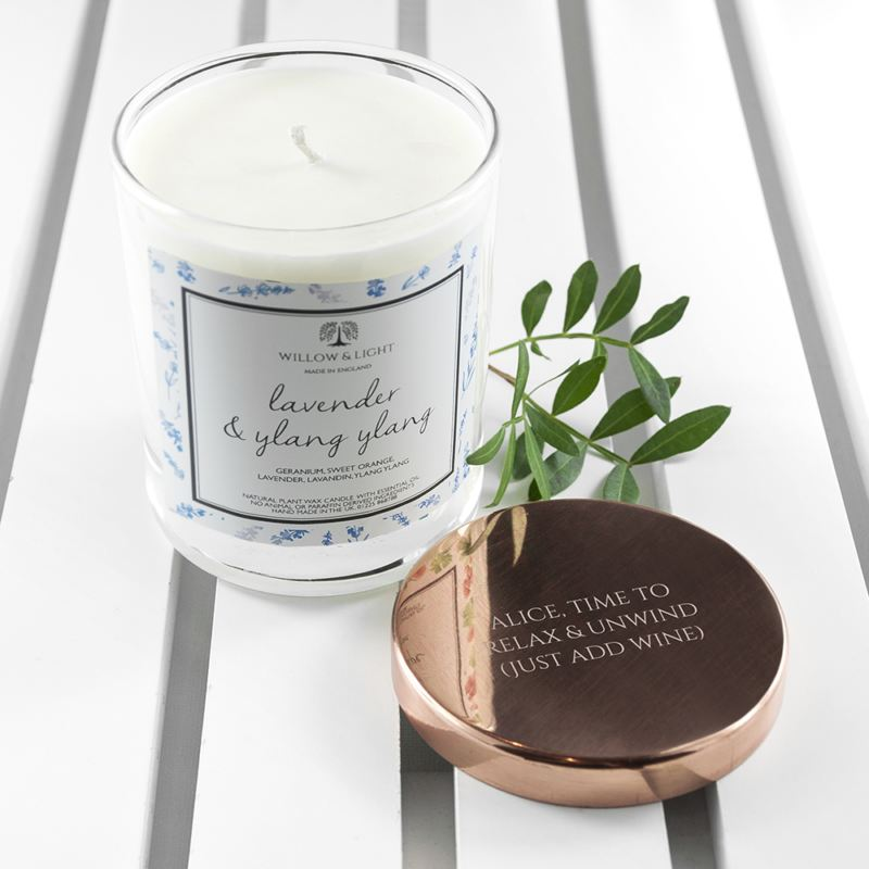 Photo of Personalised Lavender & Ylang Ylang Candle with Copper Lid Review