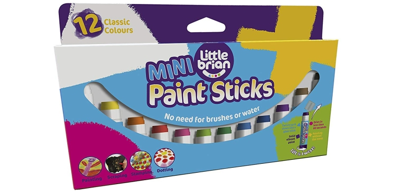 Photo of Little Brian Mini Paint Sticks and Fabric Paint Sticks Review