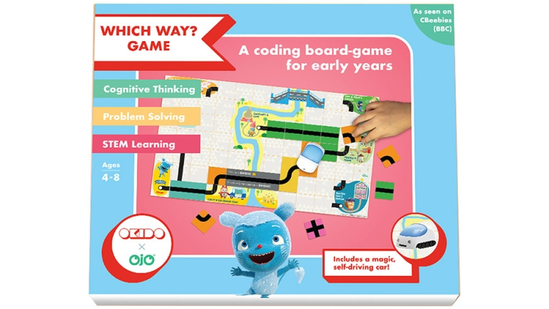 Photo of OjO Which Way? Coding Board Game Review