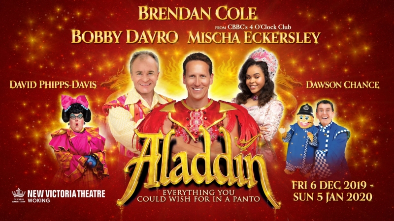 Photo of Aladdin at the New Victoria Theatre Woking Review
