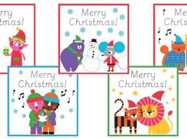 Traceable Christmas Cards