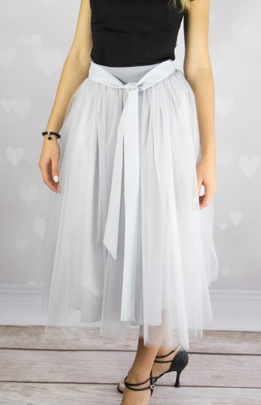 Photo of Lovely Tutu Grey Midi Tulle Skirt Review
