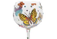 Butterflies Gin Glass