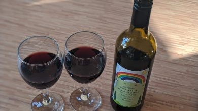 Photo of Personalised Wine With Thank You Rainbow Design From Giftsonline4u.com Review