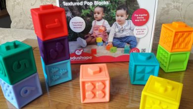 Photo of Edushape Textured Pop Blocks Review