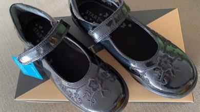 Photo of Hopscotch black patent riptape school shoe by Start Rite Review