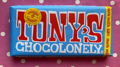 Photo of Tony's Chocolonely dark milk 42% chocolate Review.