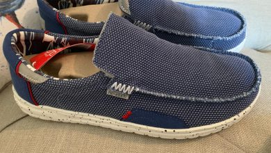 Photo of Hey Dude Men's Shoes – Mikka Hawke Stretch Knit Blue Review