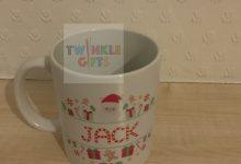 Photo of 6 Personalised Santa Split Monogram Christmas Mugs: Competition – ENDED